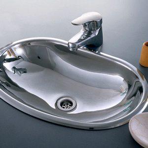 Bacha Acero Johnson Baly OV 440L Baño Vanitory Marmoleria Giacomo Portaro